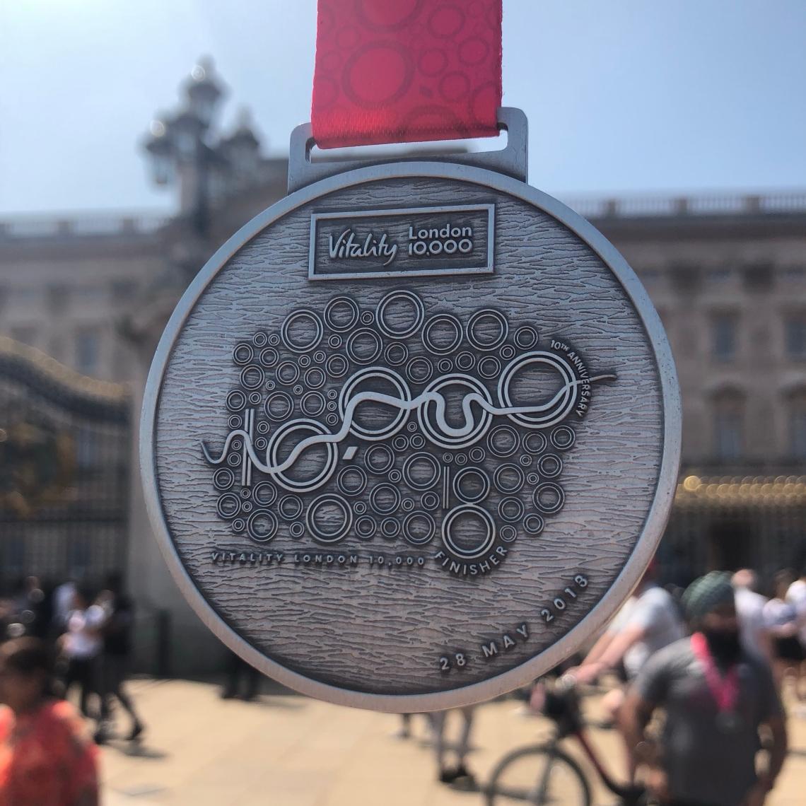 Vitality London 10,000 Medal